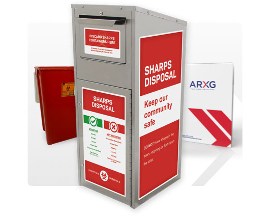 American-Rx-Group-solutions-medication-recycling-program-RX-Disposal-be-a-comunity-leader-SharpsKiosk_38G_18G-Mailback